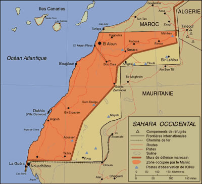 Western Sahara Territorial Dispute Selfdetermination And The UN - Western sahara map