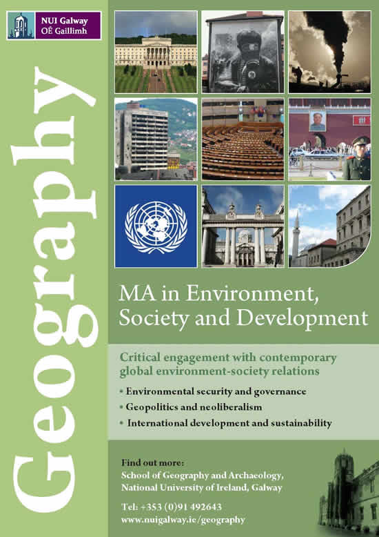 MA Geography NUI Galway
